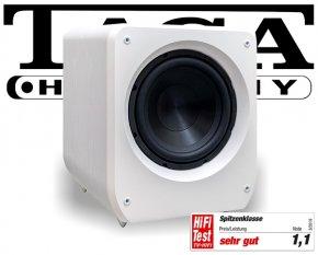 Taga Lautsprecher Aktiv Subwoofer Bass Heimkino Platinum v.3 SW-10 weiß