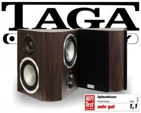 Taga Surround Lautsprecher Regallautsprecher Platinum v.3 S-100 modern wenge 2 Stück
