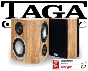 Taga Surround Lautsprecher Regallautsprecher Platinum v.3 S-100 oak 2 Stück