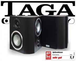 Taga Surround Lautsprecher Regallautsprecher Platinum v.3 S-100 schwarz 2 Stück