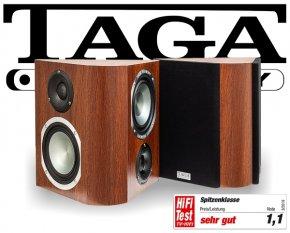 Taga Surround Lautsprecher Regallautsprecher Platinum v.3 S-100 walnut 2 Stück