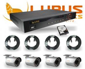 Set HD Videoüberwachung Rekorder LE125 + 4x LE128HD SDI Nachtsichtkamera