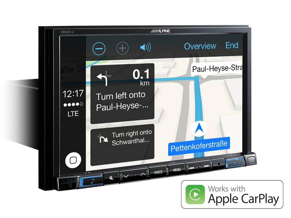 alpine autoradio x802d u carplay android usb dab navi. Black Bedroom Furniture Sets. Home Design Ideas