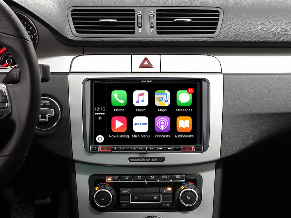alpine autoradio x802d u carplay android usb dab navi. Black Bedroom Furniture Sets. Home Design Ideas