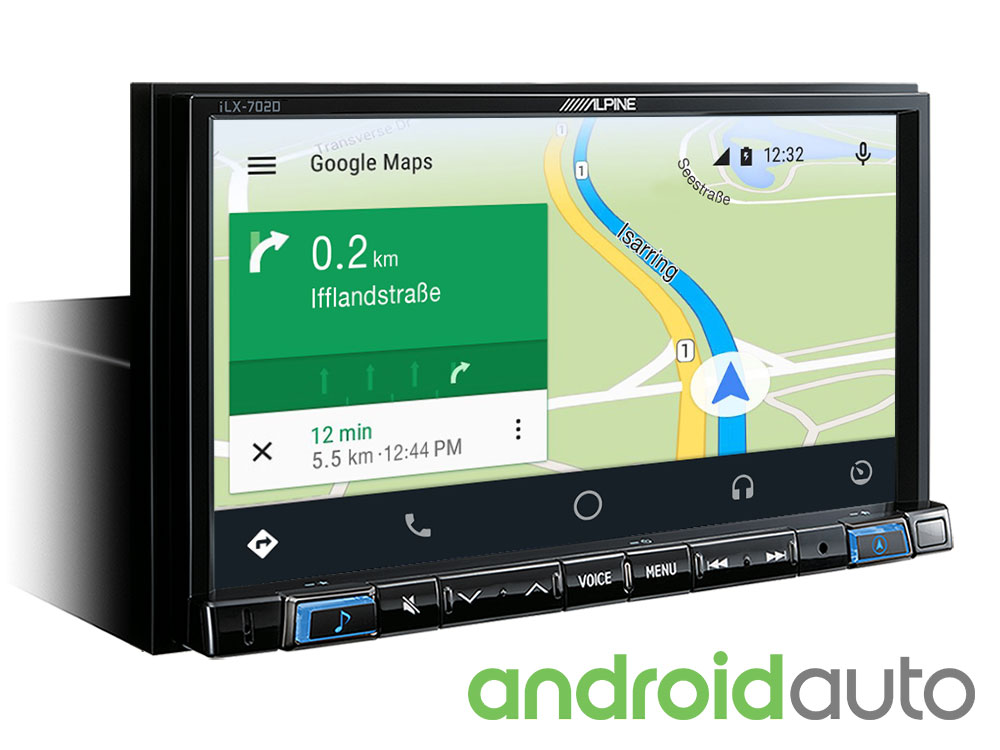alpine autoradio ilx 702d carplay android usb dab. Black Bedroom Furniture Sets. Home Design Ideas