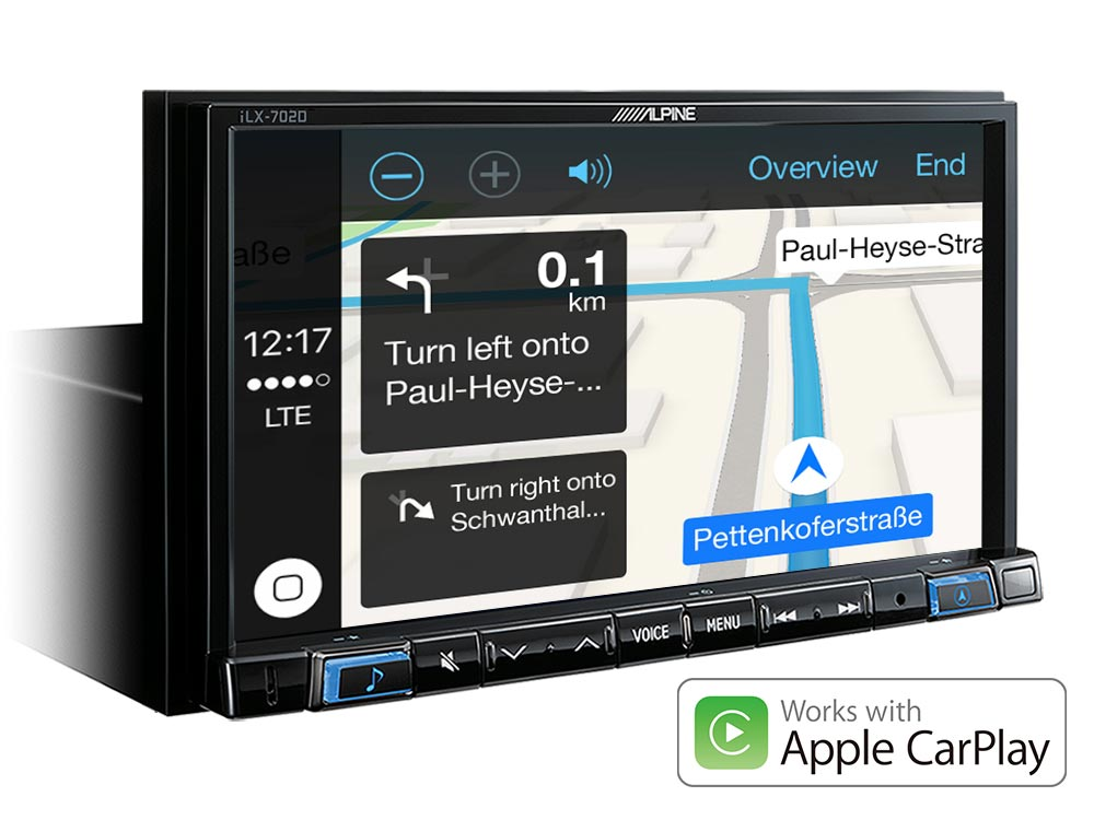 alpine autoradio ilx 702d carplay android usb dab