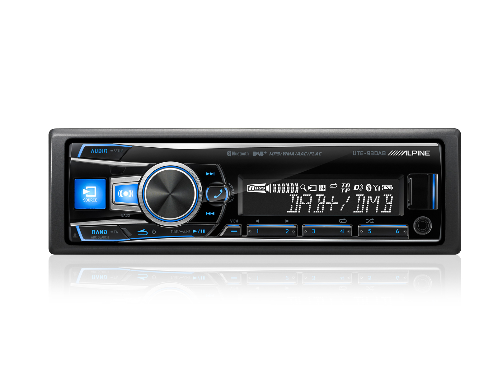 Alpine DAB+ Autoradio UTE-93DAB Bluetooth USB