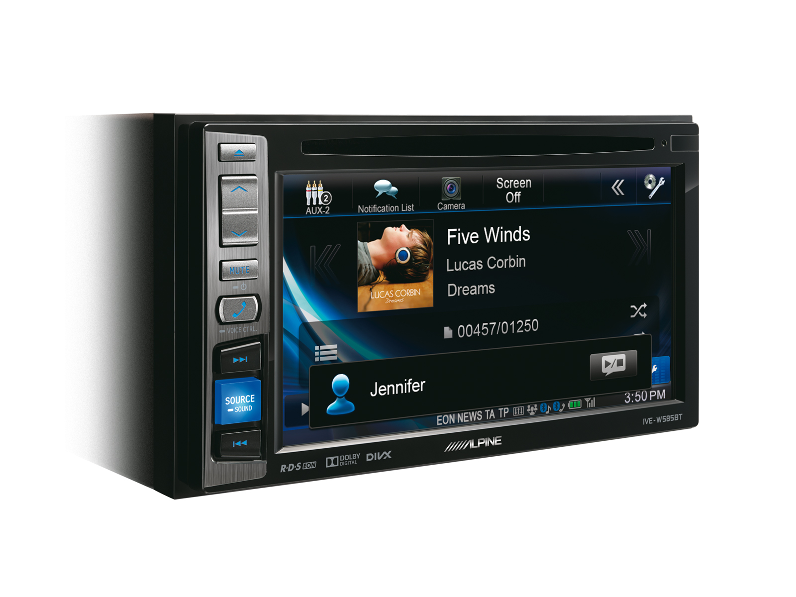 alpine autoradio ive w585bt mit dvd cd usb iphone ipod bluetooth. Black Bedroom Furniture Sets. Home Design Ideas