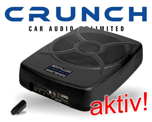 crunch gp810 aktiv subwoofer 25cm bass caraudio. Black Bedroom Furniture Sets. Home Design Ideas