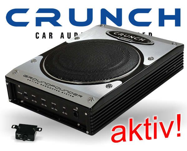 aktiv subwoofer auto crunch gp800 bass lautsprecher. Black Bedroom Furniture Sets. Home Design Ideas