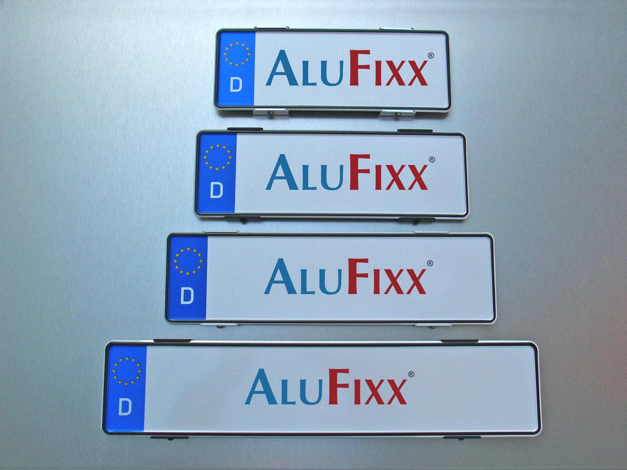 Kennzeichenhalter Alufixx Nummernschildhalter schwarz