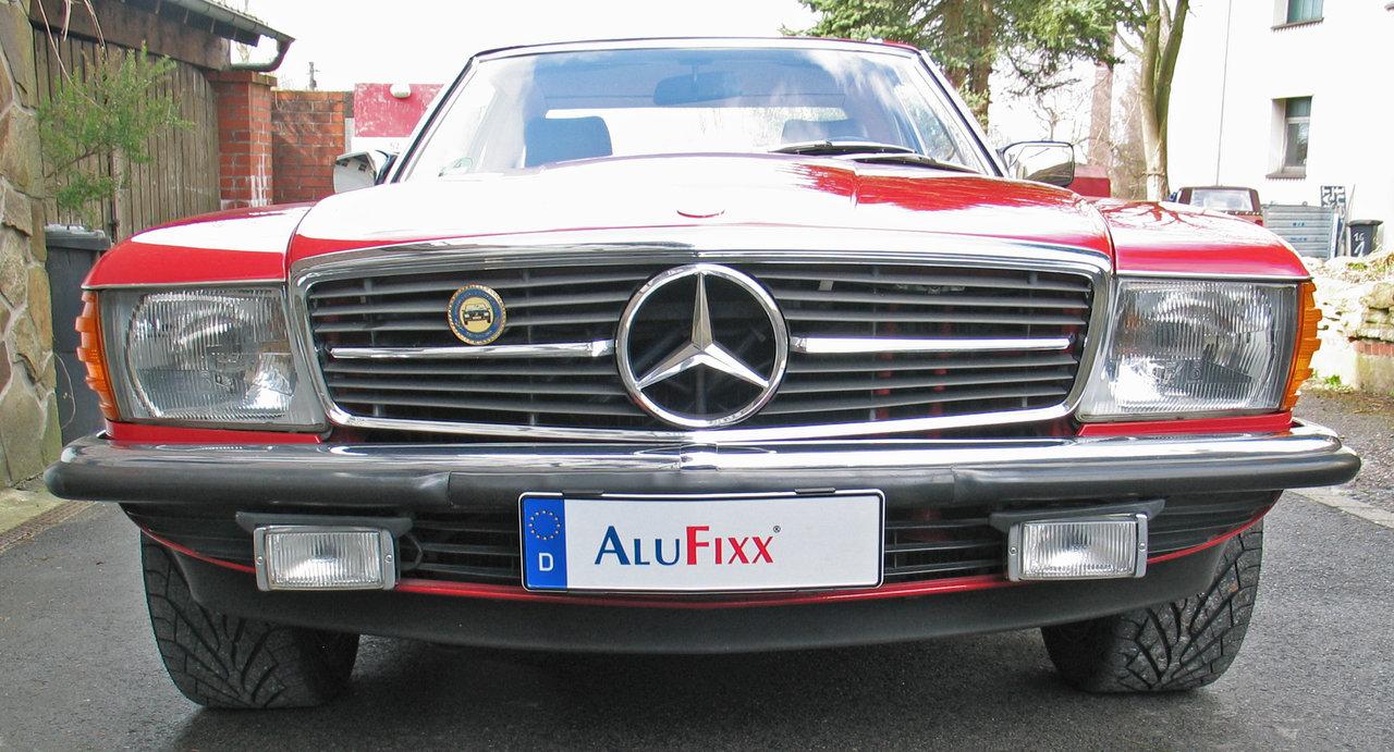 Kennzeichenhalter Alufixx Basic Nummernschild schwarz