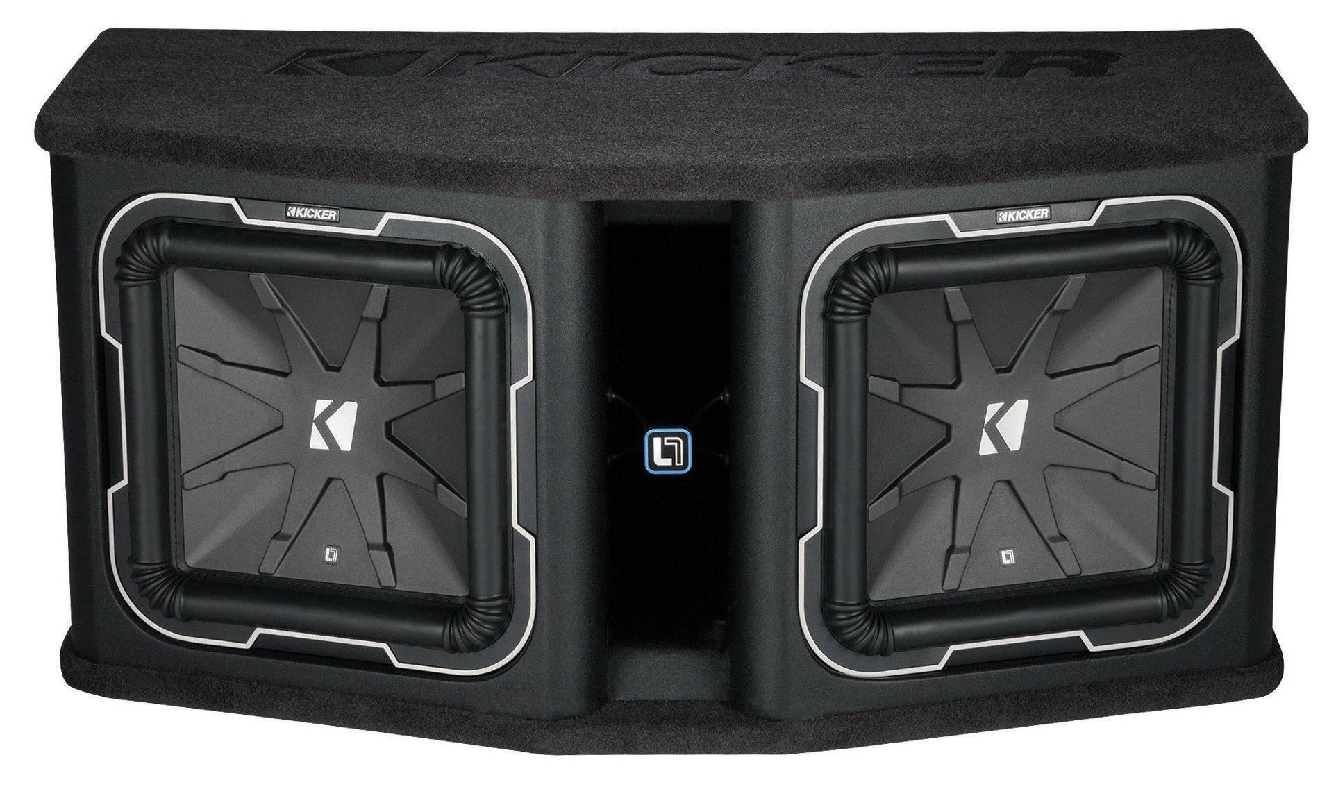 kicker subwoofer bassbox q class dl7122 2ohm 3600w. Black Bedroom Furniture Sets. Home Design Ideas
