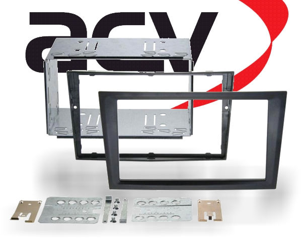 radioblende 2din opel renault suzuki ab 1999 schwarz. Black Bedroom Furniture Sets. Home Design Ideas