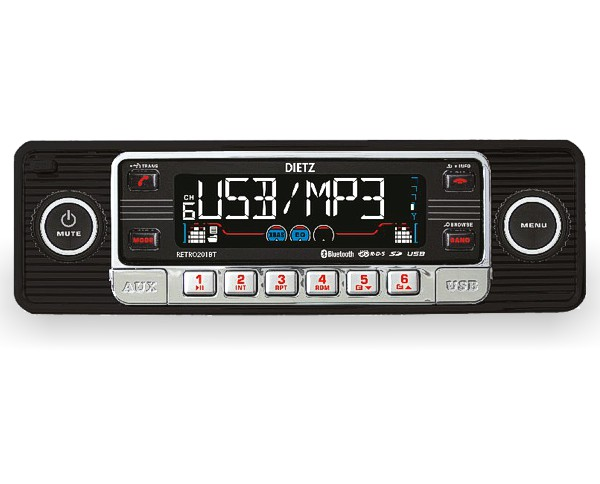 retro autoradio usb bluetooth cd sd f r oldtimer farbe. Black Bedroom Furniture Sets. Home Design Ideas