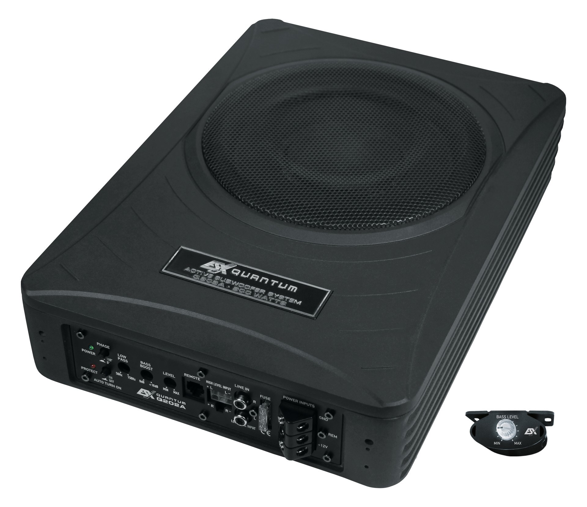 aktiv auto subwoofer esx quantum q bass q202a 200w. Black Bedroom Furniture Sets. Home Design Ideas