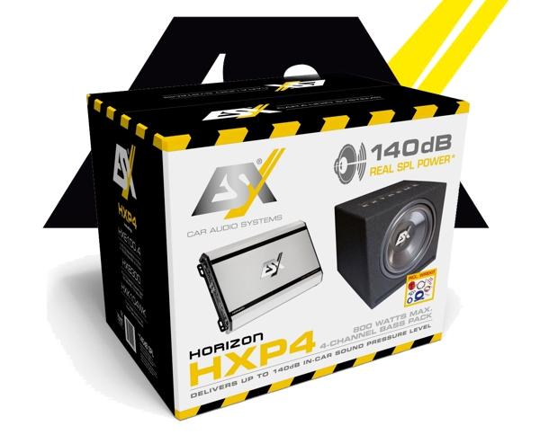 esx 800 w car hifi set subwoofer bass endstufe hxp4. Black Bedroom Furniture Sets. Home Design Ideas