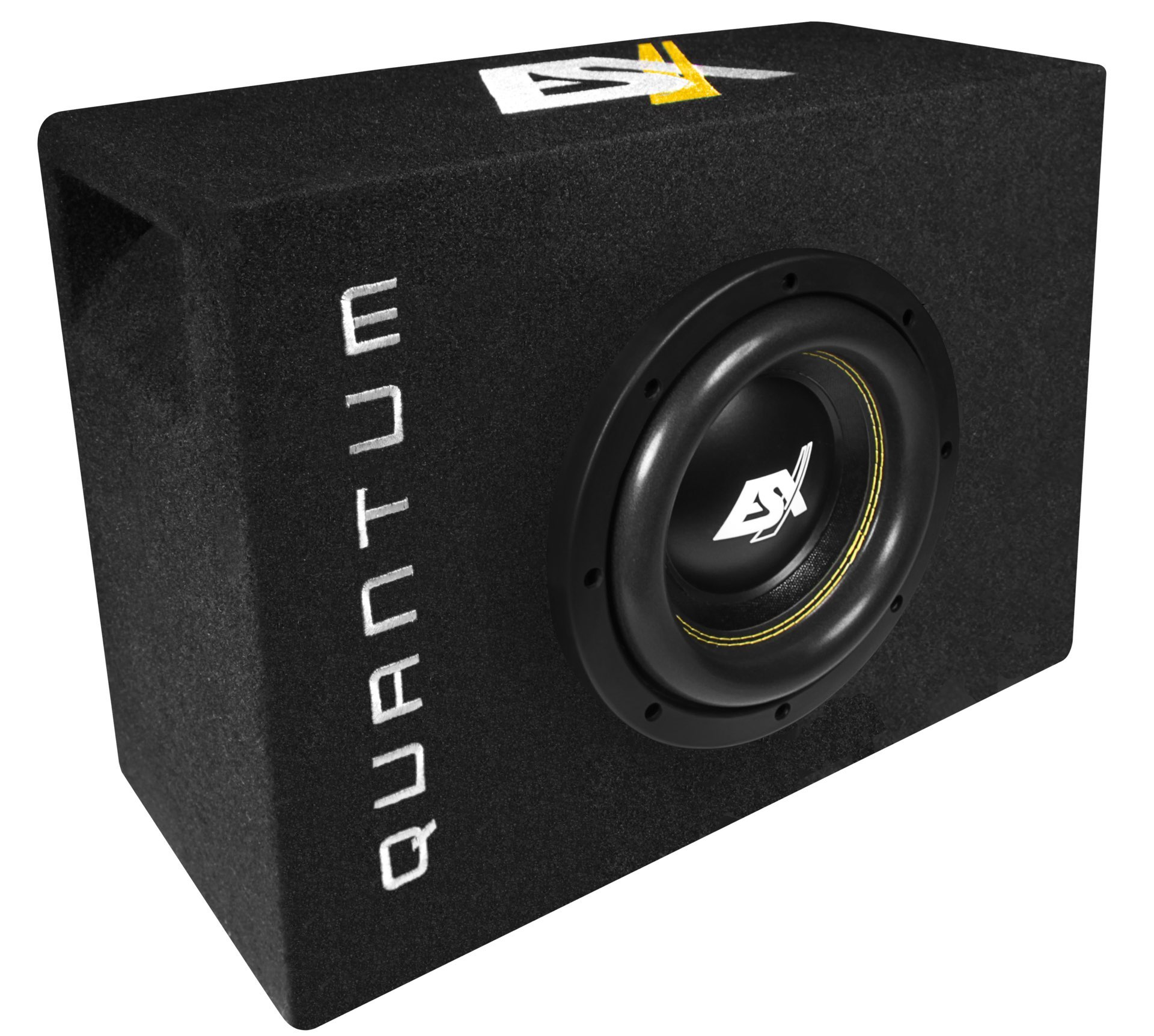 esx quantum subwoofer bass kompakt qsb8 20cm 800w. Black Bedroom Furniture Sets. Home Design Ideas