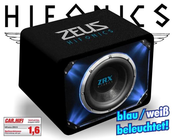 hifonics auto subwoofer bassbox zrx 10 25cm 1000w. Black Bedroom Furniture Sets. Home Design Ideas