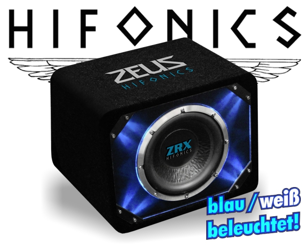 hifonics auto subwoofer bassbox zrx 8 20cm 700w. Black Bedroom Furniture Sets. Home Design Ideas