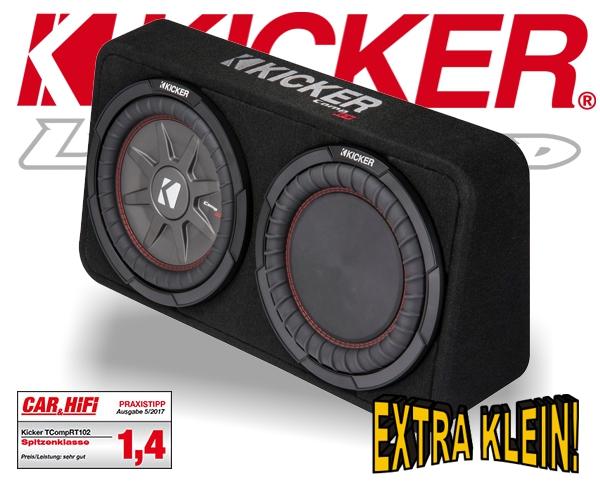 kicker subwoofer tcomp rt104 kleine bassbox 800w 4ohm. Black Bedroom Furniture Sets. Home Design Ideas