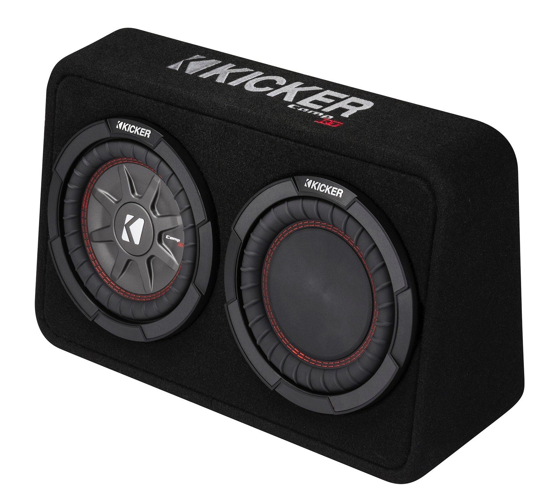 kicker subwoofer tcomp rt82 extra kleine bassbox 2ohm. Black Bedroom Furniture Sets. Home Design Ideas