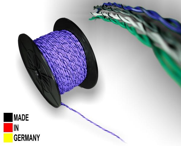Auto Lautsprecherkabel verdrillt 1,5 qmm Kupfer Kabel Farbe Grau 5 Meter