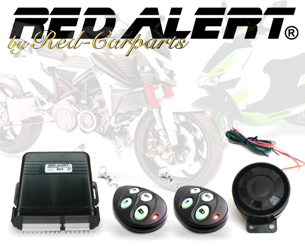 red alert rc2 motorrad alarmanlage roller quad anh nger. Black Bedroom Furniture Sets. Home Design Ideas