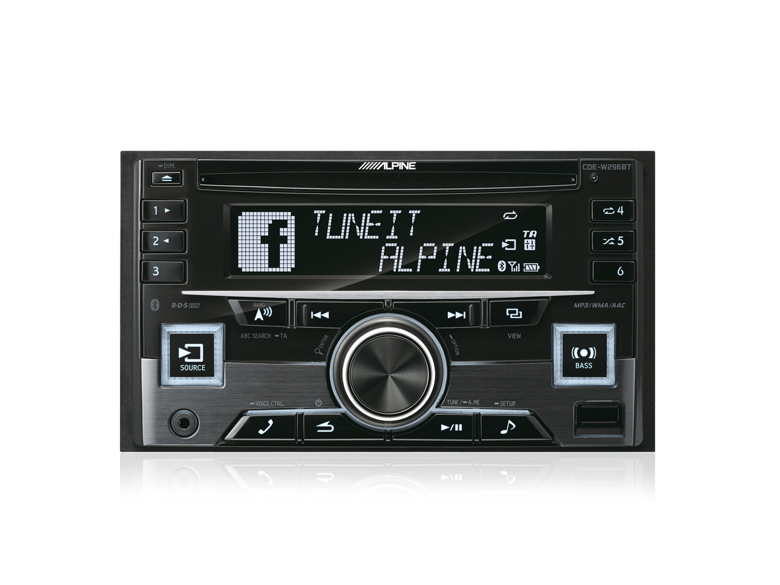 alpine 2 din autoradio cde w296bt mit cd usb iphone ipod. Black Bedroom Furniture Sets. Home Design Ideas