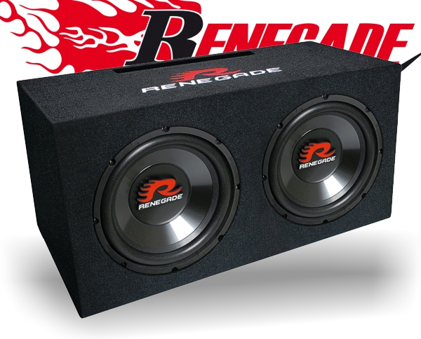 renegade dual subwoofer box rxv1002. Black Bedroom Furniture Sets. Home Design Ideas