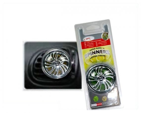 "Lufterfrischer ""Chrome Spinnerz"" lemon"