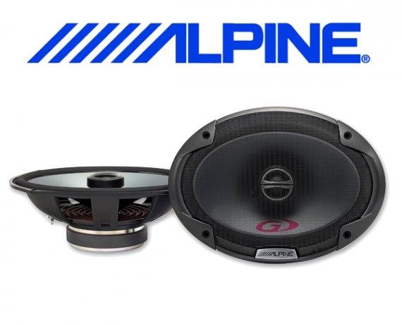 Alpine Auto Lautsprecher Koax 15x23cm 75W SPG-69C2