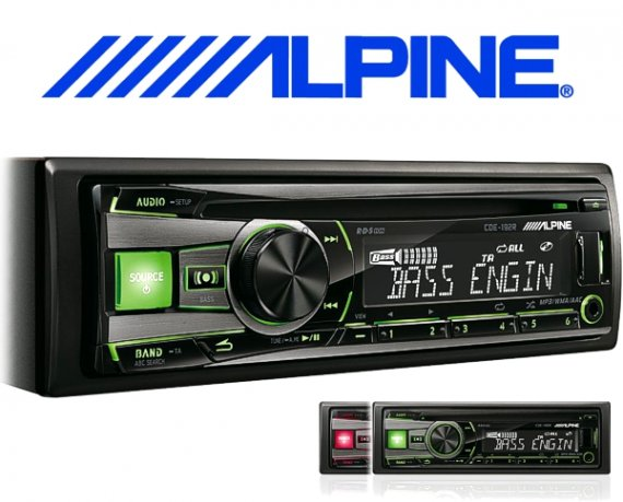 Alpine Autoradio CDE-192R für CD USB iPhone iPod