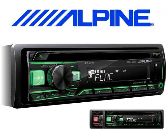 Alpine Autoradio CDE-201R mit CD USB AUX