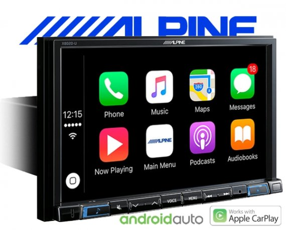 "Alpine Autoradio X802D-U Navigation Apple Carplay Android 1-DIN 8"" Monitor mit DAB+ USB HDMI Bluetooth"