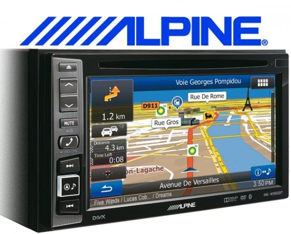 Alpine Navigationsgerät Autoradio INE-W990HDMI mit USB/iPhone/iPod