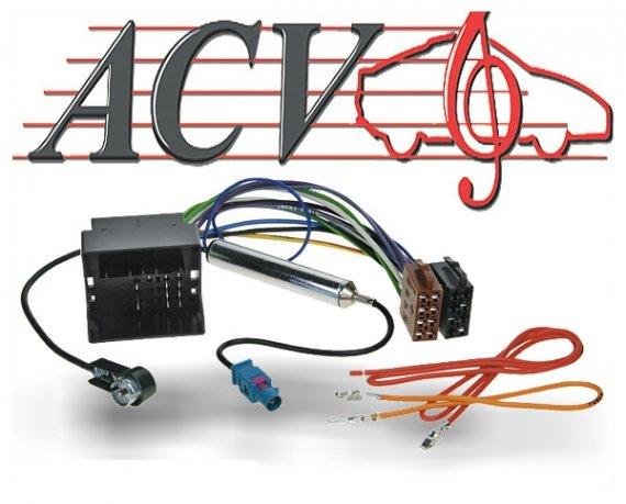 Radioadapter Autoradio Adapter Audi Seat Skoda VW Quadlock und ISO Antenne