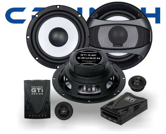 Crunch GTi 2-Wege Auto Lautsprecher System GTi-6.2C
