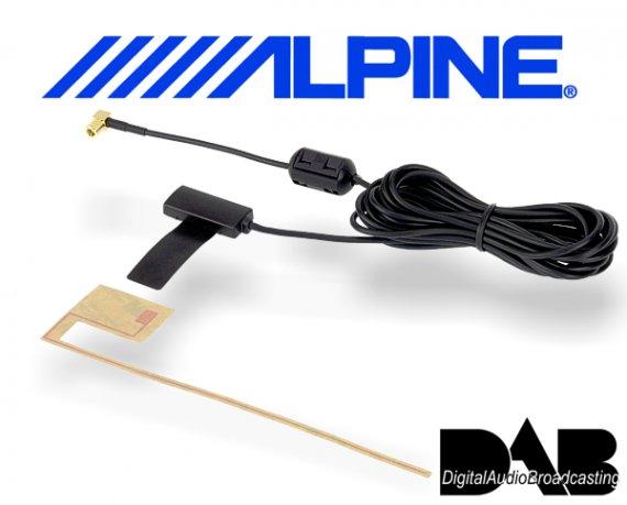 Alpine aktive DAB+ Scheibenantenne KAE-242DA SMB