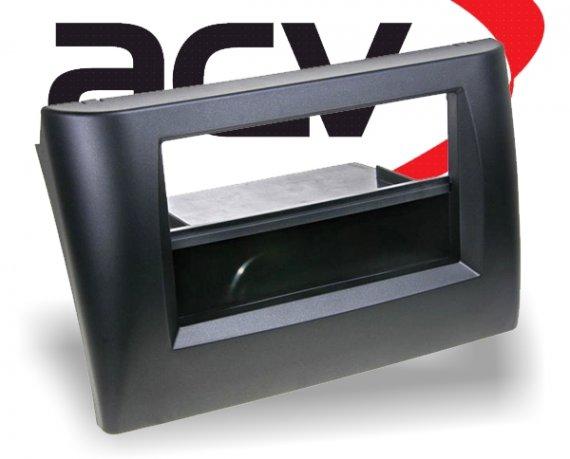 2-DIN Radioblende mit Ablagefach Fiat Stilo (schwarz)