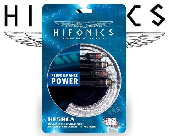 HIFONICS Cinch-Kabel - 5m - doppelt abgeschirmt HF5-RCA