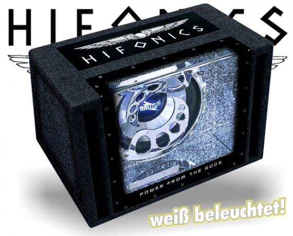 Hifonics Brutus Single Bandpass BXi12-BP mit Beleuchtung!