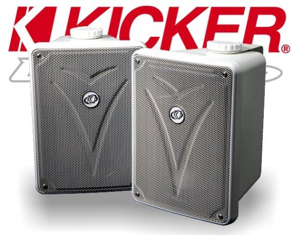 Kicker Outdoor Lautsprecher KB6000W für Aussenbereich weiß 75W