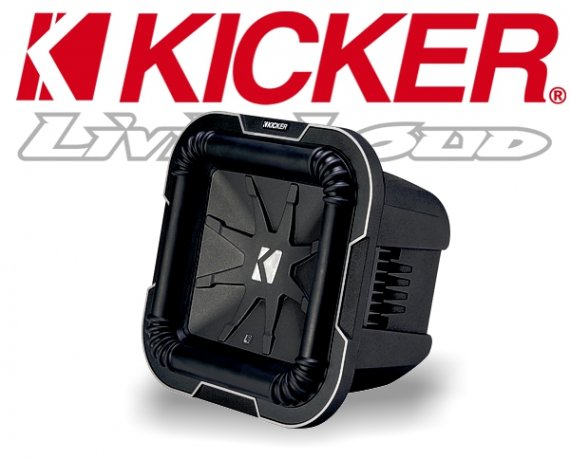 Kicker Subwoofer Bass Q-Class L784 2x 4ohm 1000W 20cm