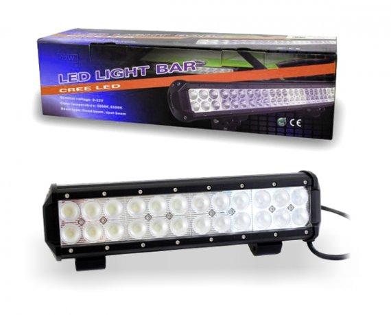 LED Lightbar Lichtbalken Arbeitslicht Flutlicht 6480lm 6500K 72W