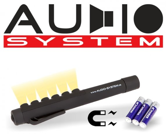 LED Mini Arbeitslampe Stableuchte mit Magnetfuß Z-mini LED von Audio System 160x20mm inkl. Batterien