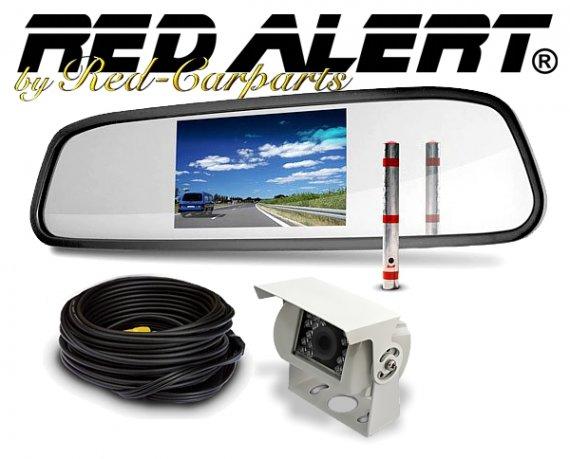 Rückfahrkamera mit 4.3 Spiegelmonitor für LKW / Wohnmobil