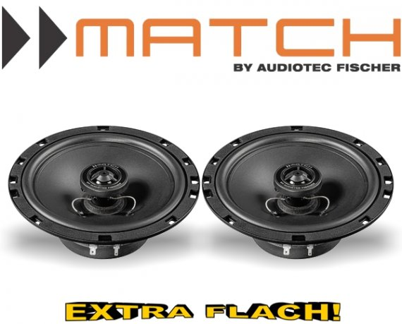 Match Auto Lautsprecher Koax 165mm 45W MS6x