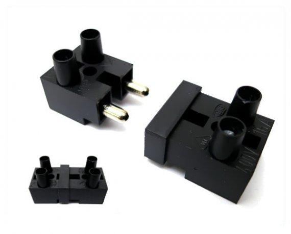 Stecker mit Kupplung zur Schnellverbindung 2-polig