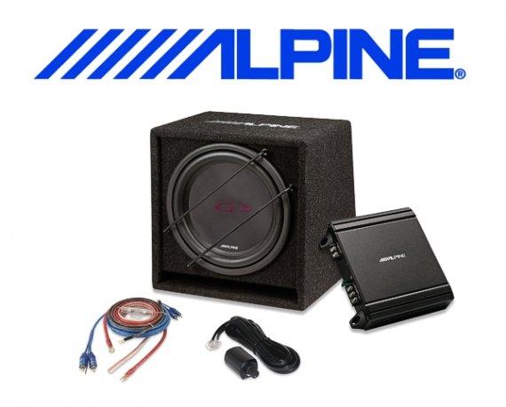 Alpine Car Hifi Set Verstärker Subwoofer Kabel SBG-30KIT 250W
